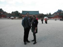 Chilling out at the Heian Shrine, KELLY W - November 2010
