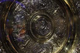 Detail of the Ladies' Singles trophy. , Duane R - December 2015