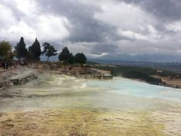 This was taken at Hierapolis. There was light rain but did not stop us from enjoying the beauty of the place. , Hazel S - October 2013
