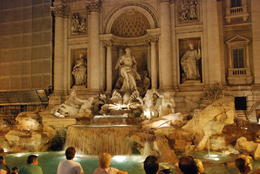 Trevi Fountain with many visitors even at night , Donald E. S - October 2012