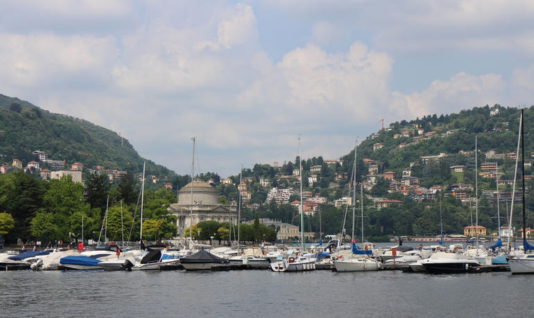 View of Lake Como from boat - Milan