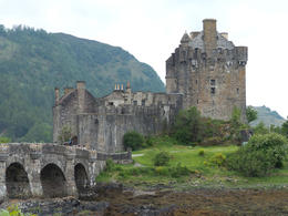 Eileen Donan Castle while the tide is down , Amy - August 2013