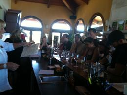 Inside Hanna Winery. That's Carol dishing answers to all of our questions., Melissa H - August 2013