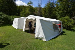 Very nice lunch tent. , Ubi - December 2014
