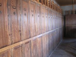Original lockers that were in the bunks., Sholean D - September 2010