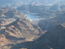 Flying over/near the Hoover Dam , Paul G - March 2013