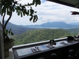 We had lunch overlooking the volcano , Anju J - April 2015