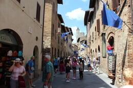 Main street into the beautifully preserved medieval town , Antony I - June 2014