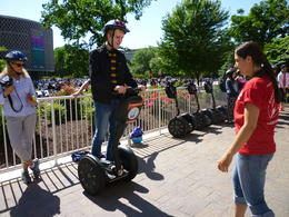 Learning how to segway, Irene - June 2013