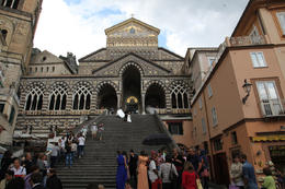 Photo of Amalfi church. Bride and groom where taking photos on the steps. , Rick Reynolds - June 2013