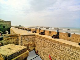 Fortess protecting the 18th century sea walls , Becks - September 2015