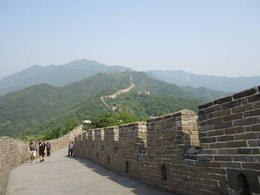 Panoramic view of the Great Wall snaking through the forest., Julie - June 2012