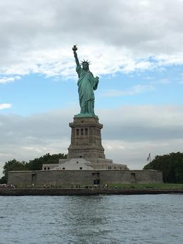 On the ferry from Manhattan to Liberty Island. The Tour Guide secured us perfect placement on the ferry to see the Statue of Liberty on approach. , Michelle G - August 2016