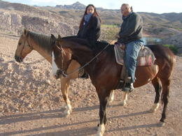 Hubby and I ready to ride., Michele Carbajal Curiel - May 2013