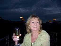 Enjoying the night lights and champers. , Rhonda W - March 2011