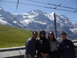 With all family before going to the top of Europe , iman p - August 2015
