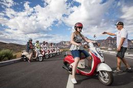 Scooter lessons before the four hour tour in Red Rock Canyon, Viator Insider - December 2017