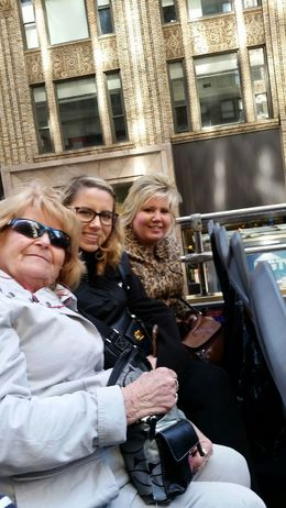 My mom, my niece and my sister, enjoying our hop on bus tour. What a great time! , Jackie V - April 2016