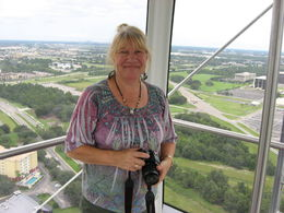 This is Robin in the gondola I think that's what they call it on The Orlando Eye. We had a great time visiting on Saturday, August 8, 2015. , Larry W - August 2015