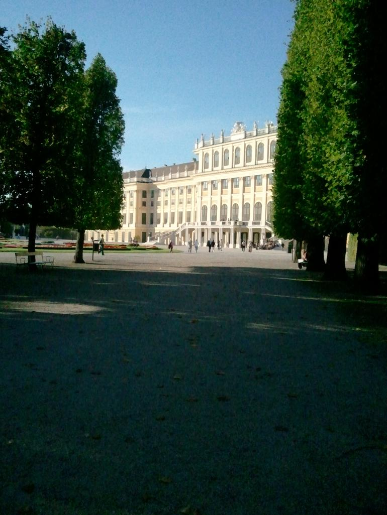 Schonbrunn Palace from the park. - Vienna