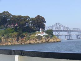 Cool shot of Treasure Island, and the old and new Bay Bridges in the background. - May 2008