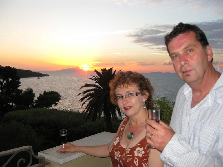 Sunset over Capri. - Rome