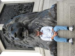The Lions of Trafalgar Square, Heather T - October 2010