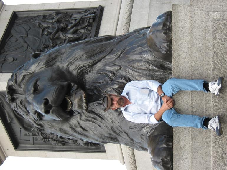 The Lions of Trafalgar Square - London