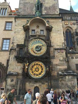 Clock in town square. , Jim - October 2015
