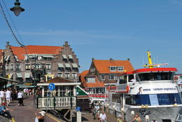 This is a photo of Volendam and the boat that took us to Marken. , Marsha F - July 2011