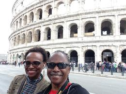 Me and my wife, outside the Colosseum before the tour. , Adrian C - May 2017