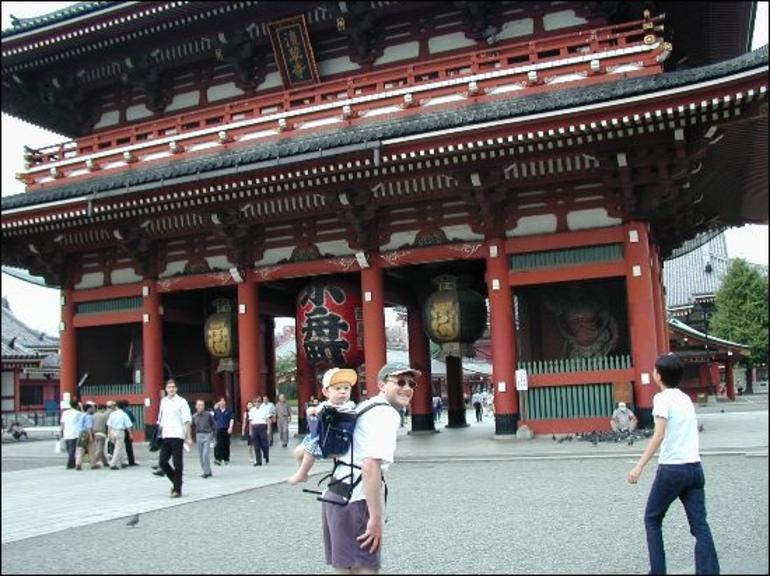 Asakusa Temple with Baby Akira! - Tokyo