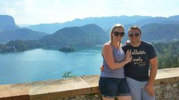 The view of Lake Bled from the castle. , Chrissy - September 2015