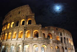 The Moon rises over the Colosseum! , Donald E. S - October 2012
