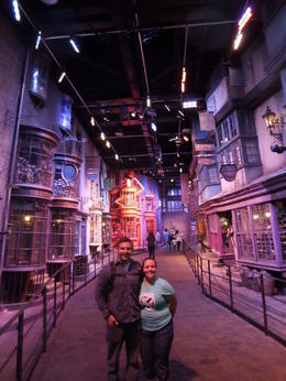 My wife and I walking through Diagon Alley. , Neil B - July 2014