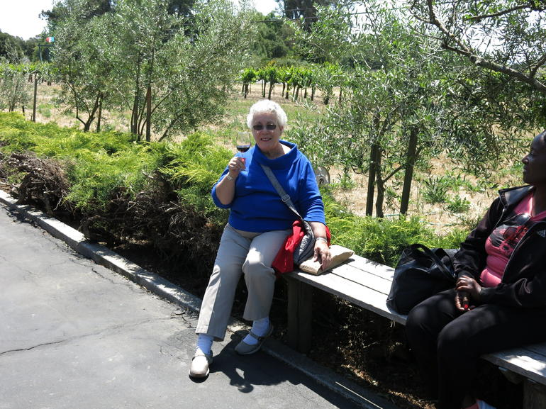 Enjoying the wine at Madonna Estate in Napa Valley - San Francisco
