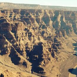 View of the canyon from the helicopter , Avraham R - January 2014