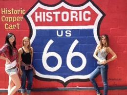Posing at the Historic Route 66, Rachel - October 2012