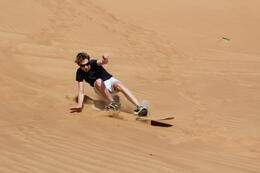 Sandboarding - coming down fast! , Adrian V - October 2011