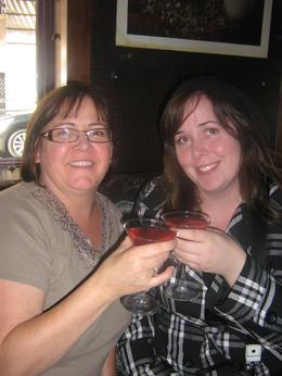 Having Cosmo's with my daughter at the bar that Steve owned., Carla F - October 2010
