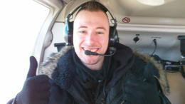 Me sat in the helicopter excited and ready for take off!! , Frederick D - February 2011