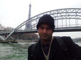 My husband enjoying Seine cruise trip when I took his photo. , wajeeha z - April 2013