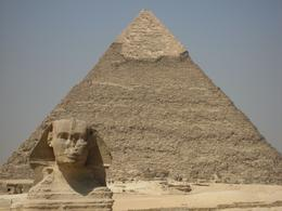 Sphinx and second pyramid., WAYNE A R - September 2008