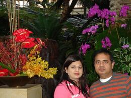 Me and my wife., Sumit B - January 2008