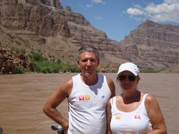 Me and my wife waiting for the boat in 105 degrees heat, RICHARD L - September 2010