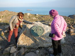 Veronica and dear wife at the eastern-most point of Spain , Ronald L - December 2016