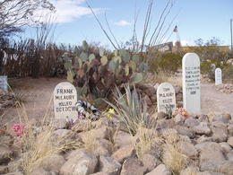 Boothill Graveyard where the Cowboys Clanton gang are buried. , Dovid O - December 2016