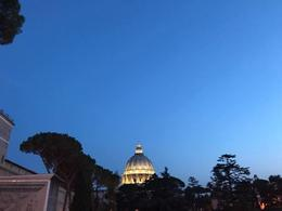St. Peter's Basilica at night before our Night Tour! , Amanda C - September 2017