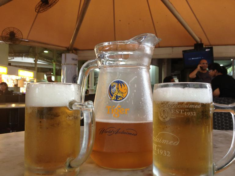 Beers at Lau Pa Sat Market - Singapore