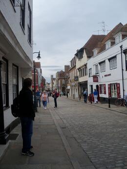Quaint inner road with shops, Debra P - September 2010